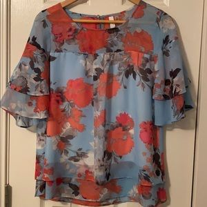 NWOT NY Collection floral blouse